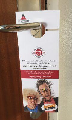 dörrhängare jubileum 75 år
