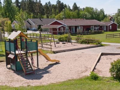 Lekplats på Kvibergsvägen och Backgårdsvägen