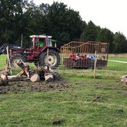 Traktorn gick många varv