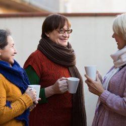 Kvinnor kaffe café