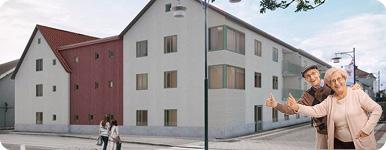 Illustrationsbild på nya huset på Bifrost.